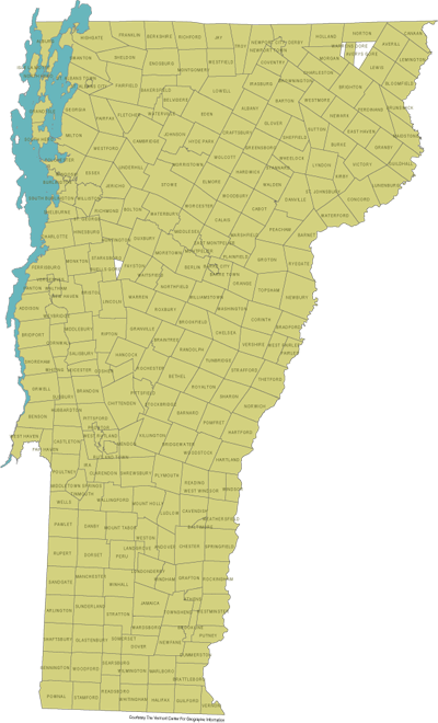 Vermont 251 in 365 towns visited